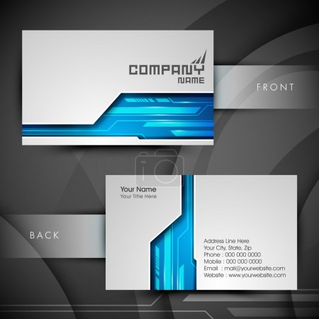 Illustration for Professional and designer business card set or visiting card set. EPS 10. - Royalty Free Image