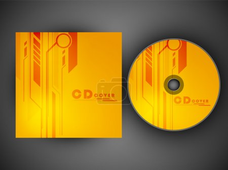 CD Cover design template. EPS 10.