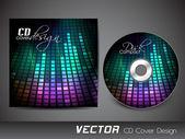 Stylizované šablonu návrhu obal cd. EPS 10