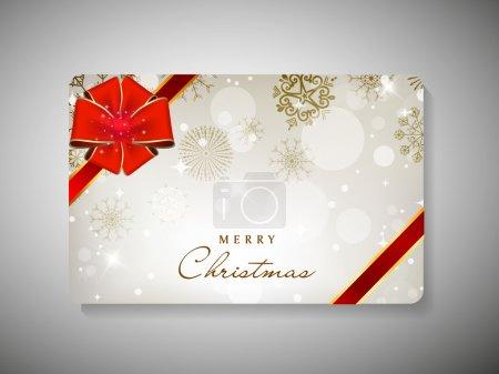 Gift card for Merry Christmas celebration. EPS 10.