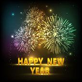 Blahopřání nebo dárkové karty pro šťastný nový rok oslava. EPS 1