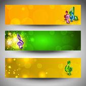 Musical website headers or banners EPS 10