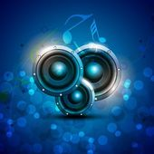 Abstract musical party background with speakers EPS 10
