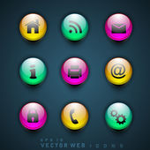 3D web 20 mail icons set Can be used for websites web applications email applications or server Icons EPS 10