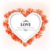 Valentýn přání nebo dárkové karty s květinovými dekorativní