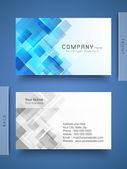 plantilla de tarjeta profesional y diseño abstracto o vis