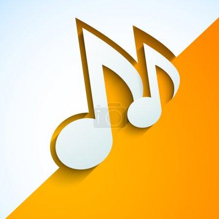 Illustration pour Notes de musique abstraites sur fond jaune et blanc . - image libre de droit