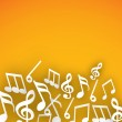 Abstract musical notes background....