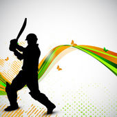 Cricket batsman in playing motion sports concept