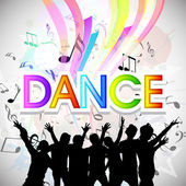 Musical dance party background flyer or banner