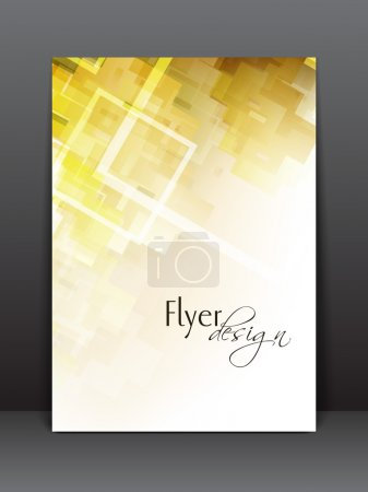 Illustration for Professional business flyer template or corporate banner wave pattern for publishing, print and presentation. - Royalty Free Image