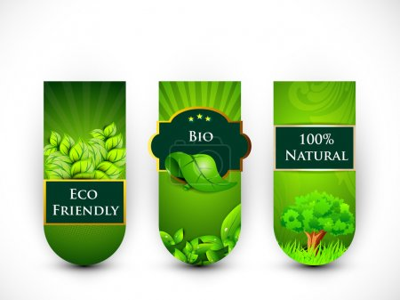 Illustration for Blank Eco tags, stickers or labels, Nature concept. - Royalty Free Image