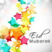 Abstract Muslim community festival Eid Mubarak background