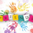 Happy Friendship Day background or concept....