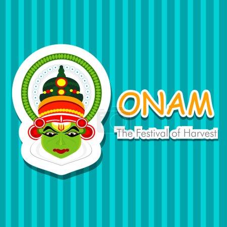 South Indian festival Onam wishes background