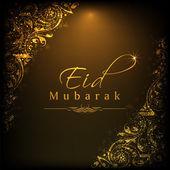 Muslim community festival Eid Mubarak background.