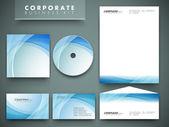 Professzionális vállalati-azonosság készlet vagy üzleti csomag a busz