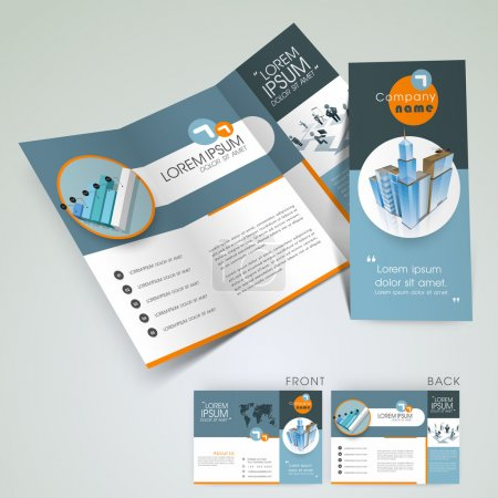 Illustration for Professional business flyer template, corporate brochure or cover design, can be use for publishing, print and presentation. - Royalty Free Image