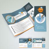 Professzionális üzleti szórólap sablont, a vállalati brosúrát vagy a borító, lehet használni a kiadói, nyomtatás és bemutatása