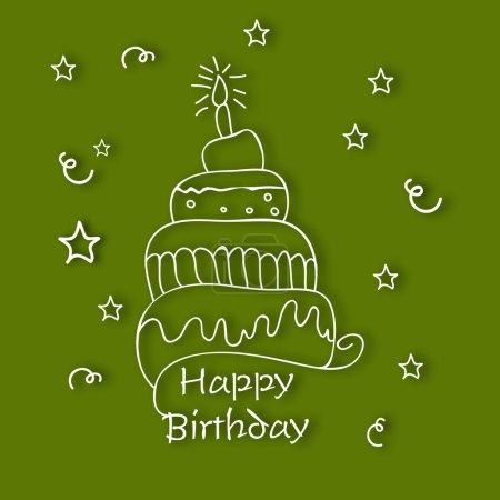 Illustration pour Résumé Joyeux anniversaire carte de vœux ou fond . - image libre de droit