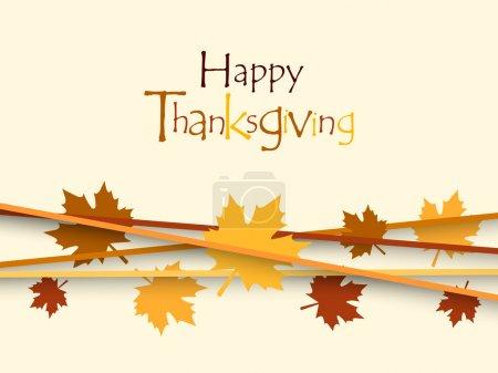 Illustration for Thanksgiving background. EPS 10. - Royalty Free Image