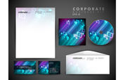 Profesionální firemní identity kit nebo obchodních kit s uměleckou, abstraktní dominový efekt pro vaše podnikání zahrnuje cd obal, vizitek, obálek a písmeno hlava návrhy ve formátu eps 10