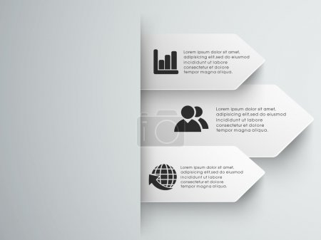 Illustration for Abstract infographics templates. - Royalty Free Image