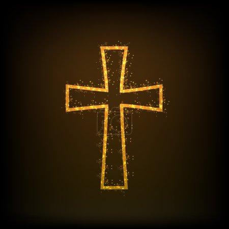 Illustration pour Joyeux Noël et Bonne Année 2014 concept de célébration avec la Croix chrétienne . - image libre de droit