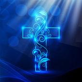 メリー クリスマスと新年あけましておめでとうございます 2014年お祝い概念キリスト教の十字