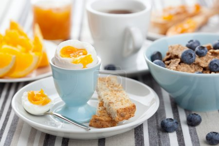 Photo for Healthy breakfast with egg - Royalty Free Image