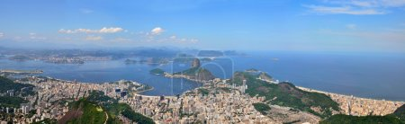 Photo pour Rio de janeiro, Brésil. pain de suggar, botafogo, copacabana plage vue du corcovado. - image libre de droit