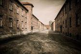 Barracks in former Nazi concentration camp Auschwitz I, Poland