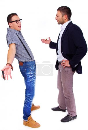 Two men are having a talk