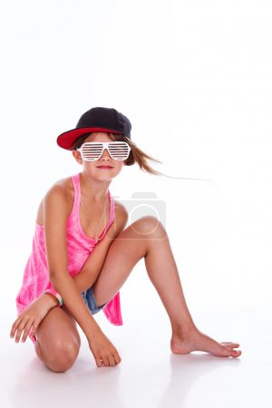 Photo for Portrait of young rap singer posing in studio - Royalty Free Image