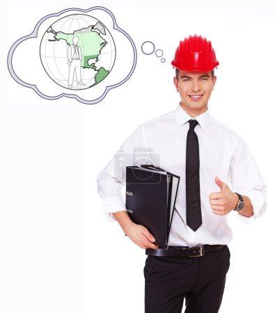 Photo pour Image d'un jeune homme d'affaires qui réussit - image libre de droit