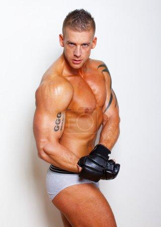 Sexy shirtless athlete