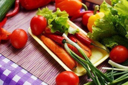 Foto de Conjunto de vegetales frescos coloridos - Imagen libre de derechos