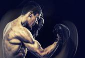 Boxing young man