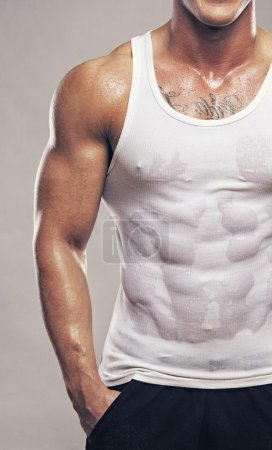 Photo for Image of muscle man torso - Royalty Free Image