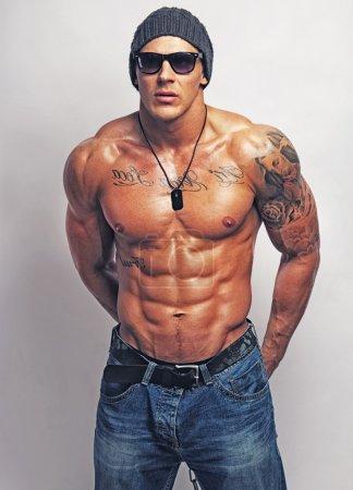 strong muscular man