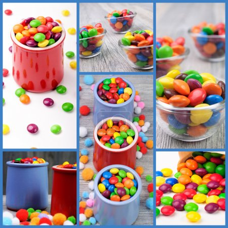 Photo for Multicolor candies in color jar - Royalty Free Image