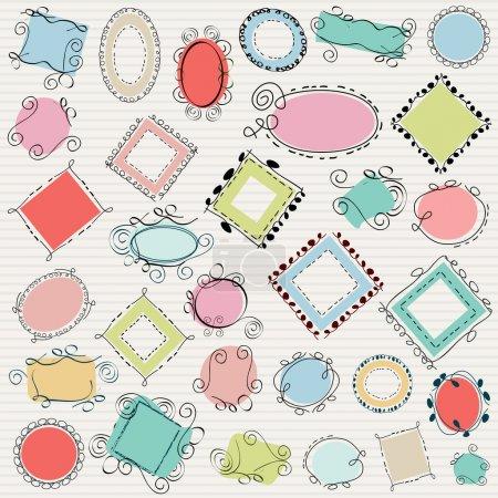 Illustration pour Tourbillon simple doodle pack d'images - image libre de droit