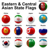 Eastern and Central Asian State Flags