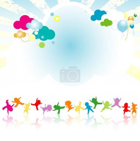 Photo pour Enfants heureux - image libre de droit