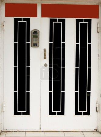 entrance door with intercom