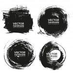 Vector beautiful handmade black strokes- backgroun...