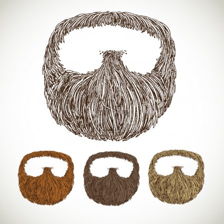 Illustration for Neat beard in color variations - Royalty Free Image