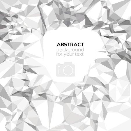 Ilustración de Vector abstracto arrugado fondo de papel para el texto - Imagen libre de derechos