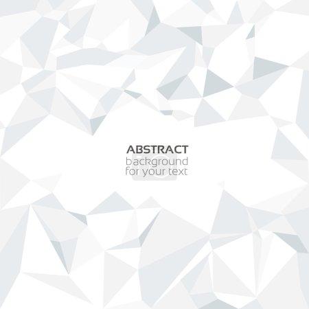 Ilustración de Vector abstracto arrugado de papel blanco - Imagen libre de derechos