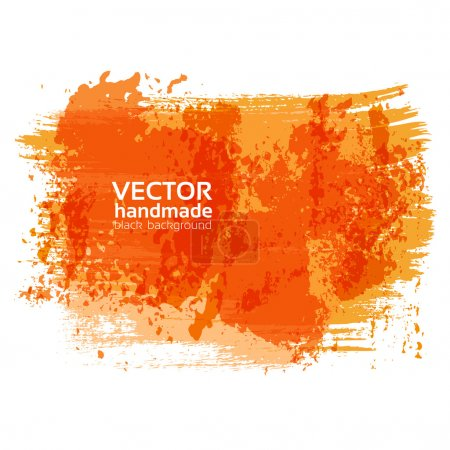 Illustration for Handdrawing textured brush strokes on white banner - Royalty Free Image